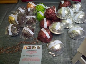 Chocolates on display