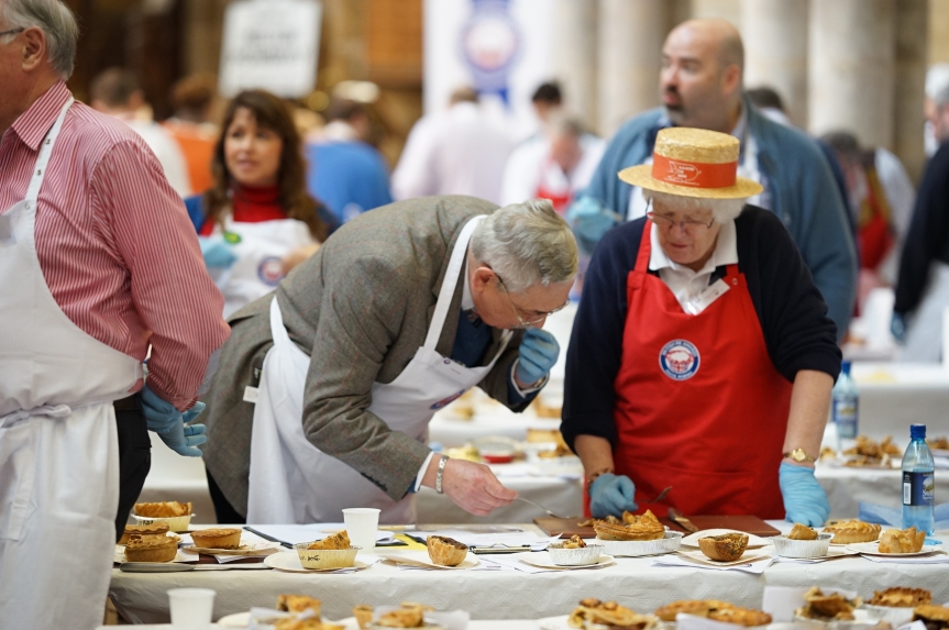 Judging at the 2016 British Pie Awards