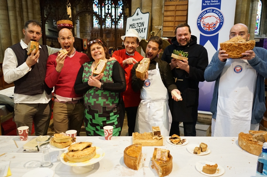 A selection of judges from this year's British Pie Awards